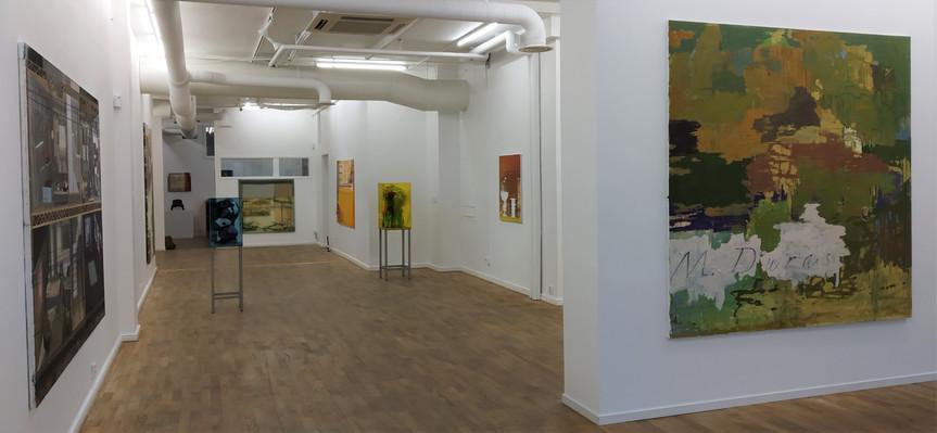 Oversigtsbillede udstillingen En paus, ett okänt rum, något som sammanflätas, Galerie Leger
