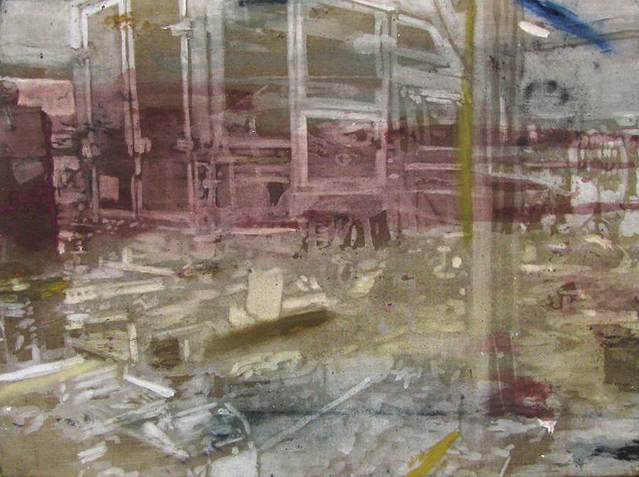 Naser på arbejde I, 60 x 80 cm, 2017