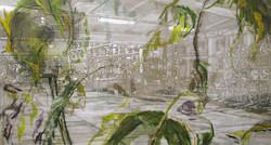Viltert værksted,150 x 280 cm, 2017