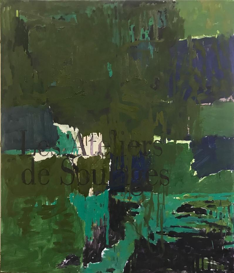 Kehnet Nielsen, Untitled (Atelier de Soulage)160 x 135 cm, 2020