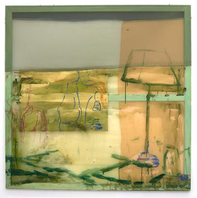 Climbing into daylight, 125 x 125 cm, 2019, Sold to Malmö Konstmuseum