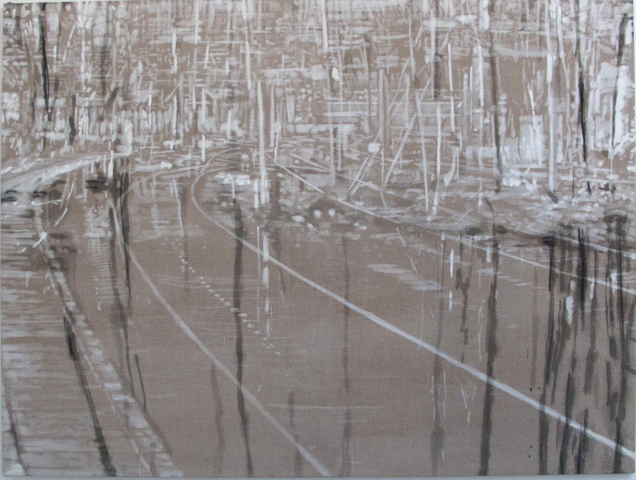 """""""Ind i det"""", 120 x 160 cm"""