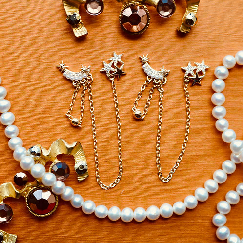 Stars and Pearl Chain Gem