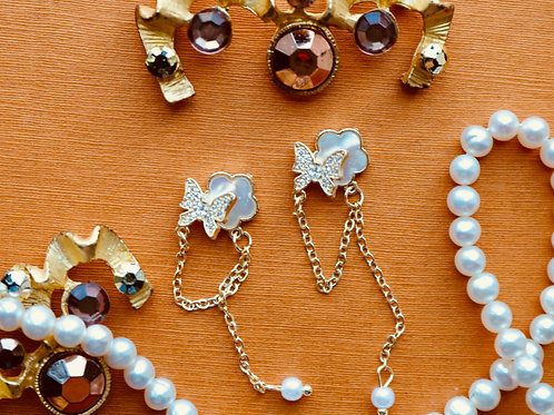 Flower and Butterfly Chain Gem