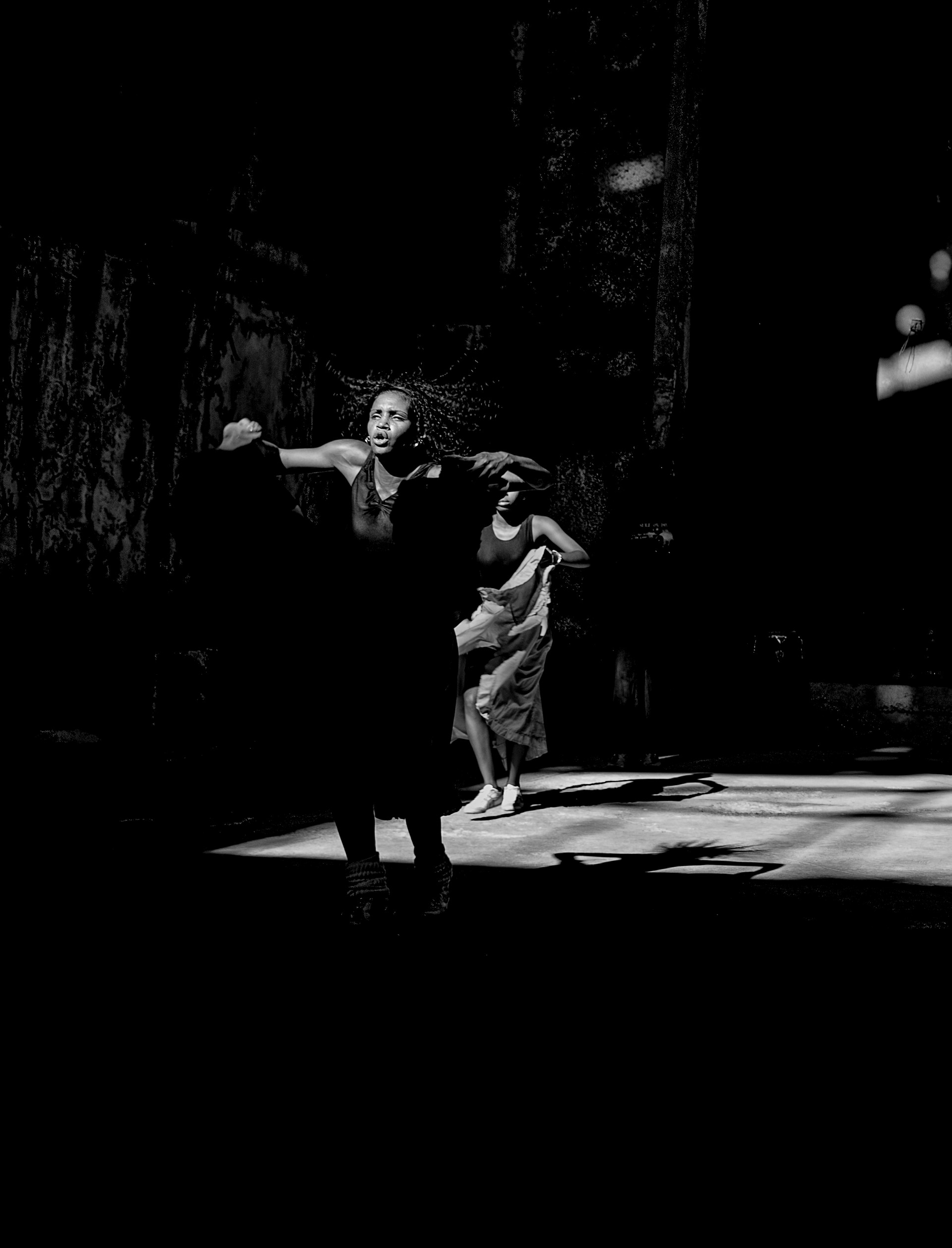 Dance Group in alleyway venue, Havana
