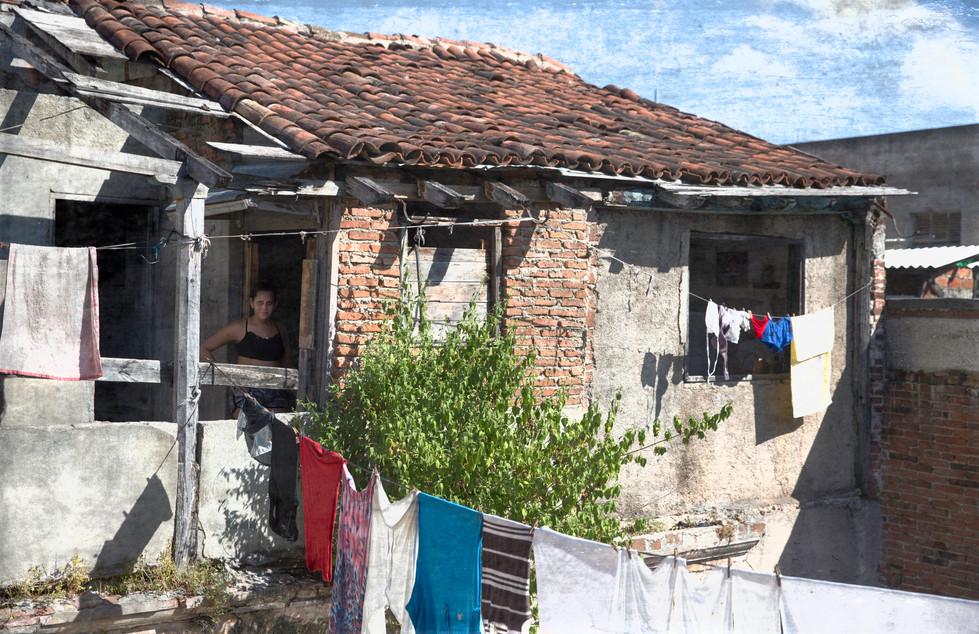 Woman and Laundry, Baracoa, Cuba