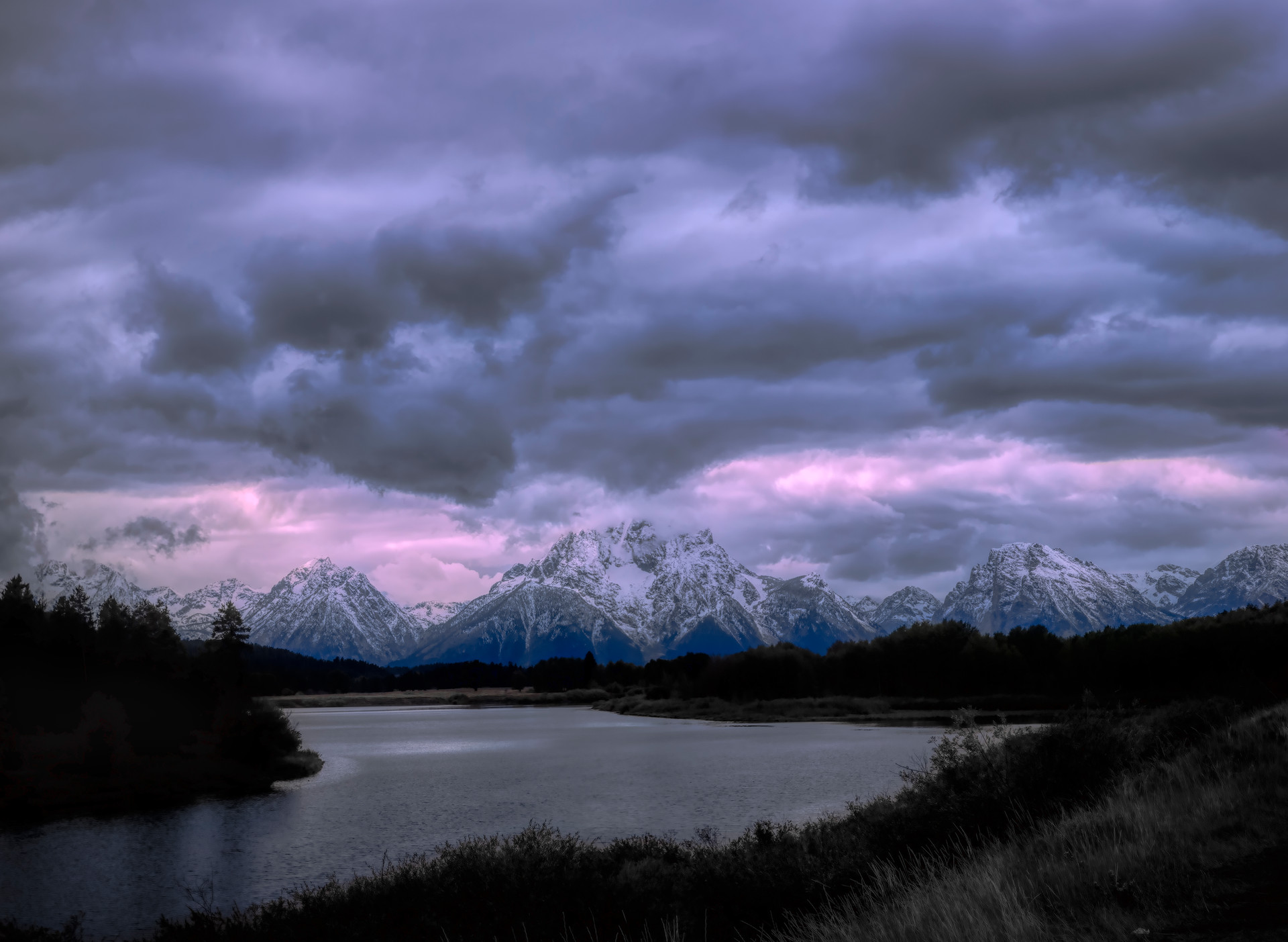 Grand Tetons over Jackson Lake, Wyoming
