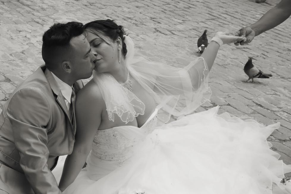 Newlyweds in Havana