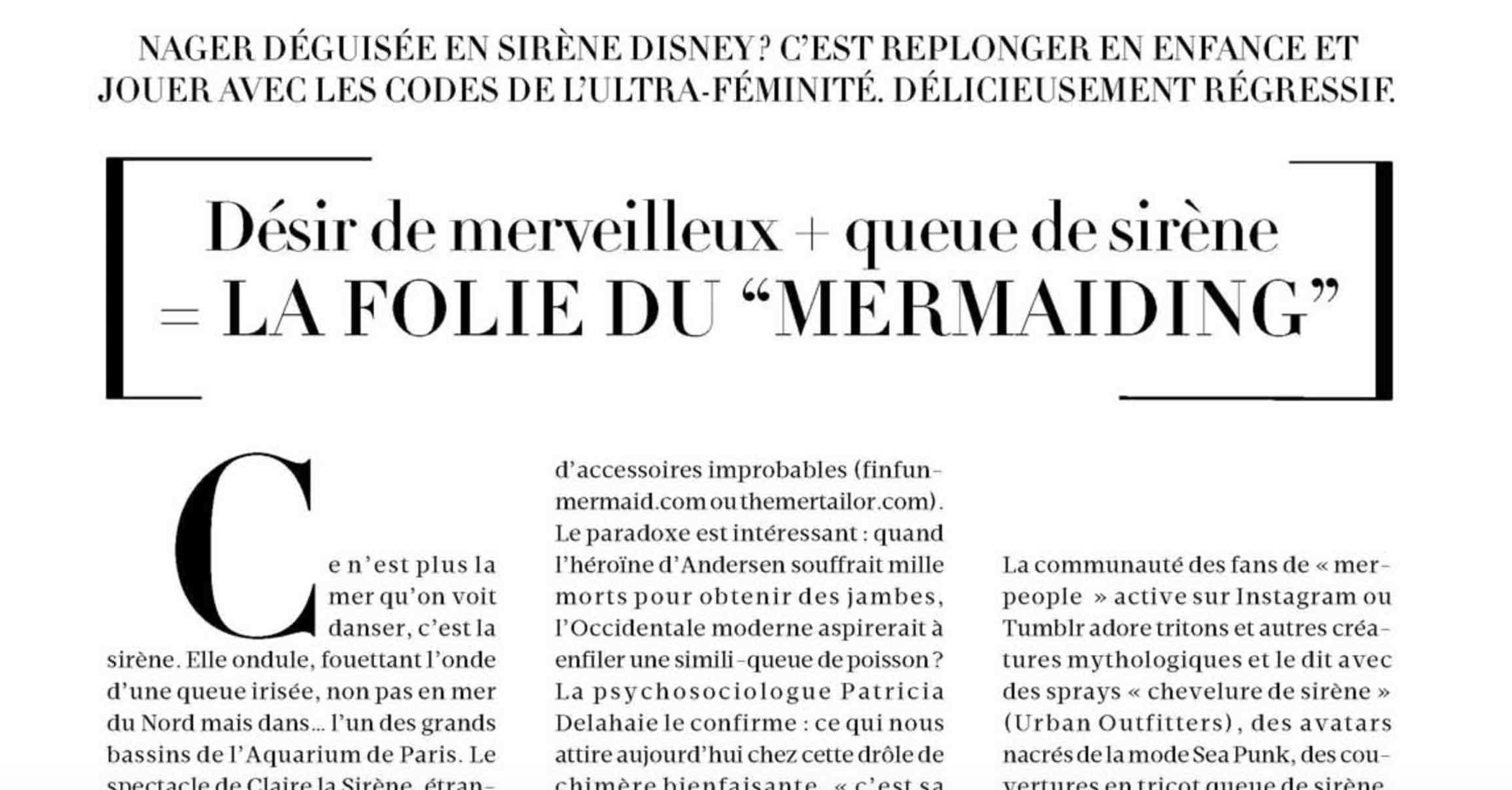 Article Madame Le Figaro