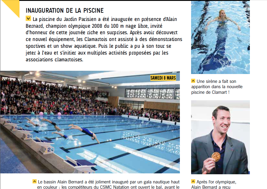 Claire la sirene 1 re sir ne professionnelle de france for Clamart piscine