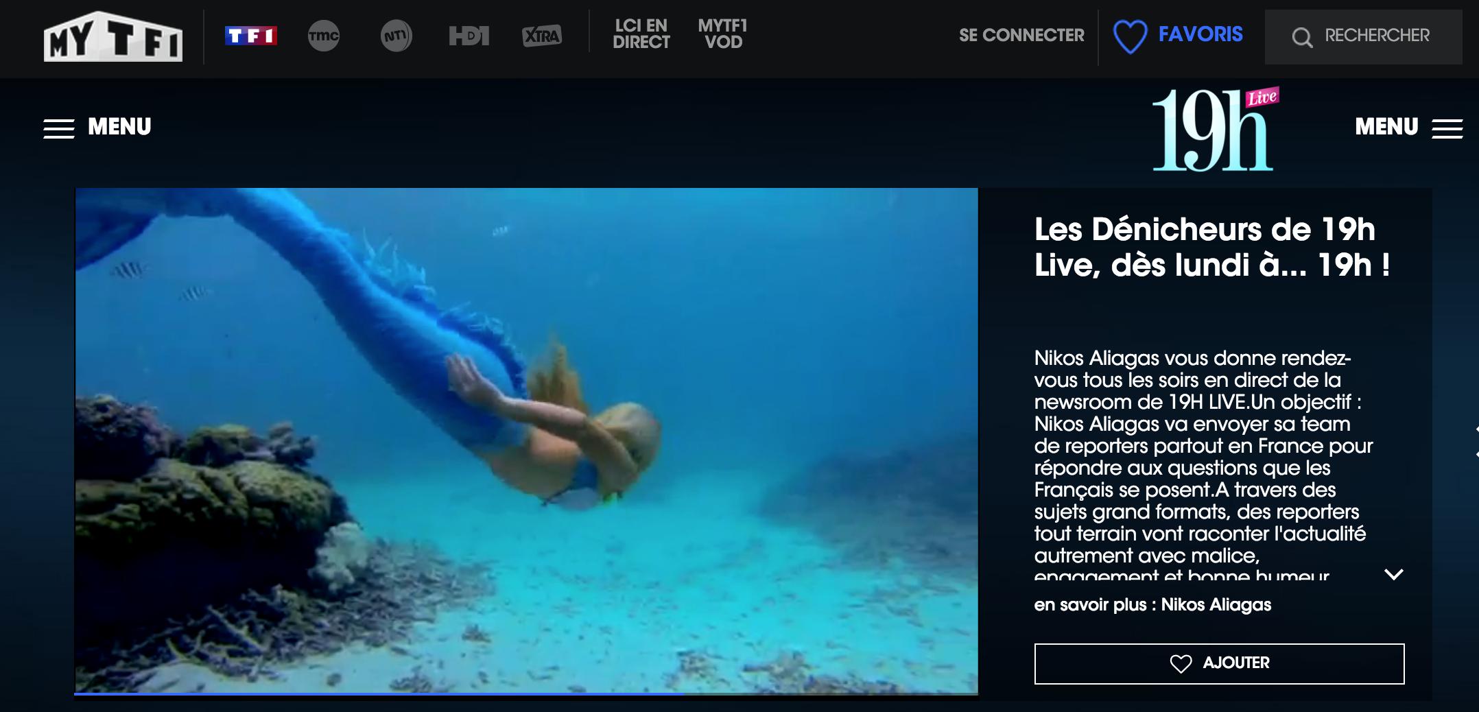 Reportage 19Hlive sur TF1