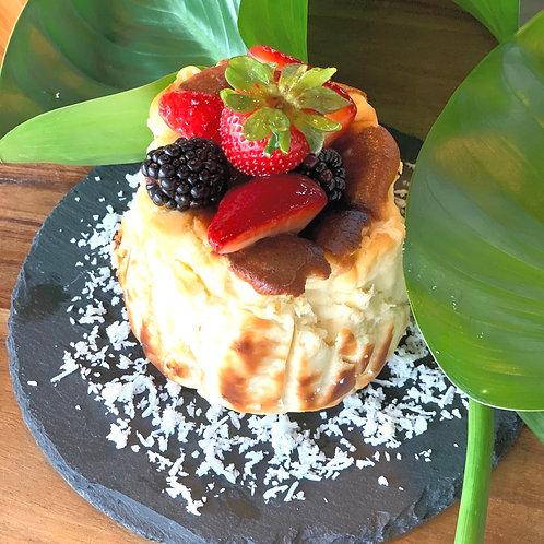 Coconut Burnt Cheesecake