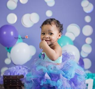 Luna is ONE! - Kinley Rose Photography, Clarksville, TN Newborn Photographer