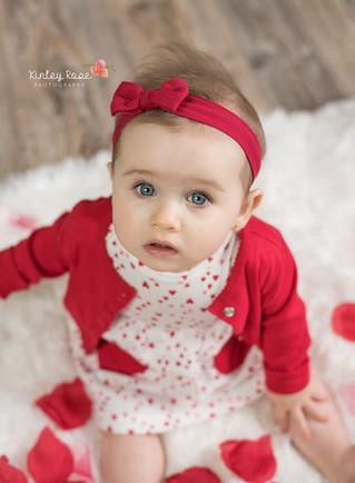 Emma's Nine Month Milestone - Kinley Rose Photography, Clarksville, TN Newborn Photographer