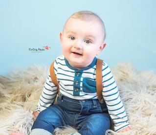 Stephan's Six Month Milestone - Kinley Rose Photography, Clarksville, TN Newborn Photographer
