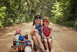 Catie & Becca's 4th of July Mini  - Kinley Rose Photography, Ludowici, GA Newborn Photographer