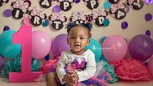 Caiya's Cake Smash - Kinley Rose Photography, Ludowici, GA Newborn Photographer