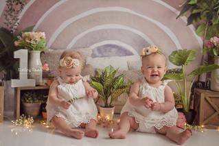 Harper and Raegan are ONE! - Kinley Rose Photography, Ludowici, GA Newborn Photographer