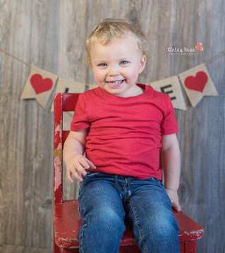 Abraham's Valentine's Day Mini Session - Kinley Rose Photography, Clarksville, TN Newborn Ph