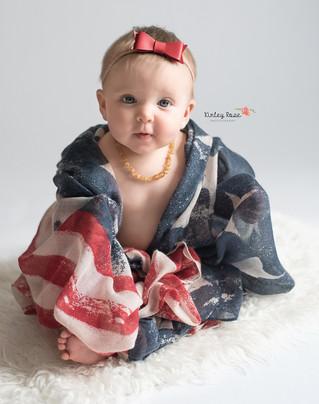 Berkley is SIX Months! - Kinley Rose Photography, Clarksville, TN Newborn Photographer