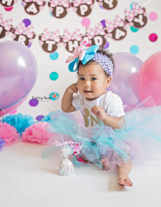 Aariel is ONE! - Kinley Rose Photography, Clarksville, TN Newborn Photography