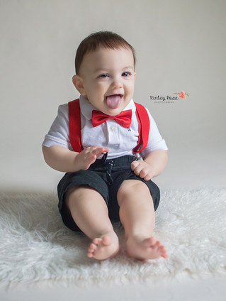 Virgil is NINE months! - Kinley Rose Photography, Clarksville, TN Newborn Photographer