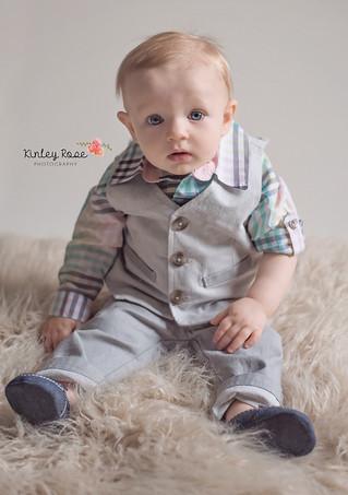 Jameson's 9 Month Milestone - Kinley Rose Photography, Clarksville, TN Newborn Photographer