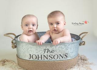 Adam & Owen's Six Month Milestone - Kinley Rose Photography, Clarksville, TN Newborn Photogr
