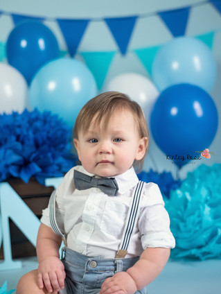 Barrett is ONE! - Kinley Rose Photography, Clarksville, TN Newborn Photographer