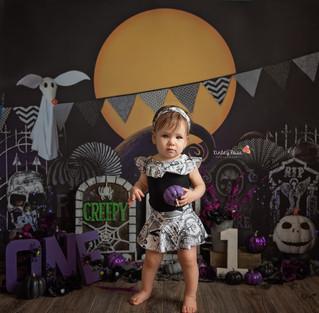 Arya's Cake Smash - Kinley Rose Photography, Ludowici, GA Newborn Photographer