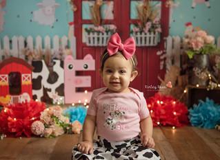 Eliana's Cake Smash - Kinley Rose Photography, Ludowici, GA Newborn Photographer