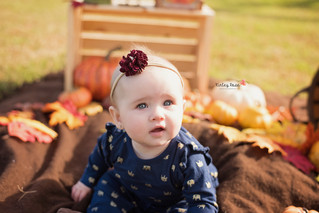 Emma's Six Month  Milestone - Kinley Rose Photography, Clarksville, TN Newborn Photographer