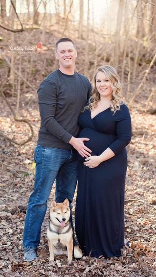 Kristelle & Kory's Maternity - Kinley Rose Photography, Clarksville, TN Newborn Photographer