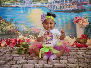 Trinity's Cake Smash - Kinley Rose Photography, Ludowici, GA Newborn Photographer