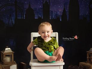Greyson is ONE! - Kinley Rose Photography - Ludowici, GA Newborn Photographer