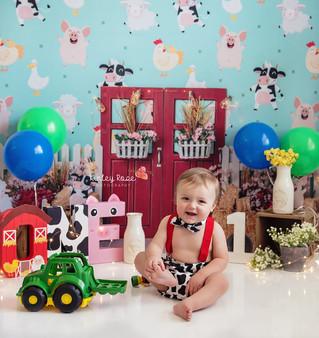 Hunter's Cake Smash - Kinley Rose Photography, Ludowici, GA Newborn Photographer