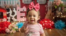Elliana's Cake Smash - Kinley Rose Photography, Ludowici, GA Newborn Photographer
