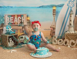 Jacklyn's Cake Smash - Kinley Rose Photography, Ludowici, GA Newborn Photographer