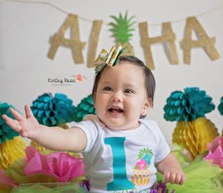 Alexa is ONE! - Kinley Rose Photography, Clarksville, TN Newborn Photographer
