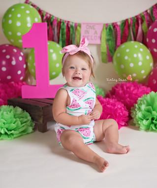 Kinsley is ONE! - Kinley Rose Photography, Clarksville, TN Newborn Photographer