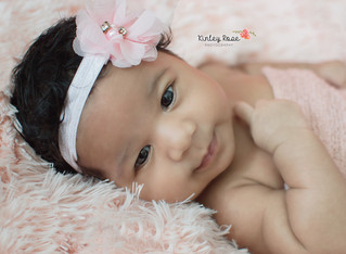 Raelynn {1 Month New} - Kinley Rose Photography, Clarksville, TN Newborn Photographer