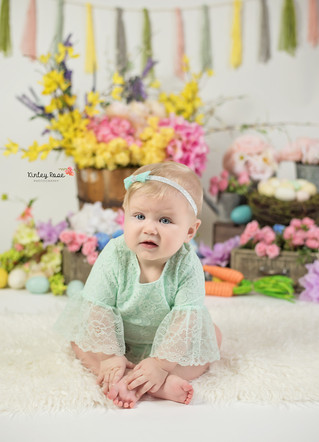Kennedy's Six Month Milestone - Kinley Rose Photography, Clarksville, TN Newborn Photographer