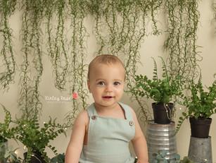 Asher's Cake Smash - Kinley Rose Photography, Ludowici, GA Newborn Photography