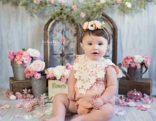 Layla's Cake Smash - Kinley Rose Photography, Ludowici, GA Newborn Photographer