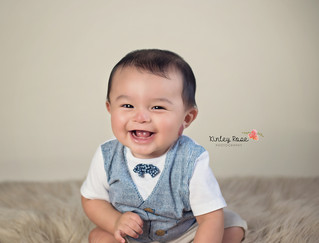 Issac's Six Month Milestone - Kinley Rose Photography, Clarksville, TN Newborn Photographer