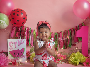 Maia's Cake Smash - Kinley Rose Photography, Ludowici, GA Newborn Photographer