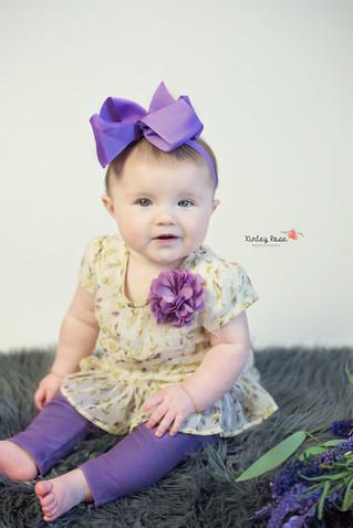 Layla's Six Month Milestone - Kinley Rose Photography, Clarksville, TN Newborn Photographer