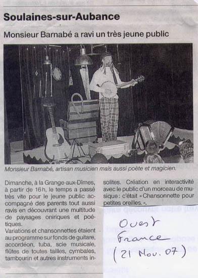 Ouest France (21 nov 07)