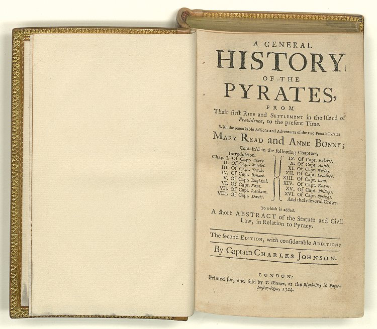 HISTORY OF THE PIRATES BY CAPTAIN CHARLE