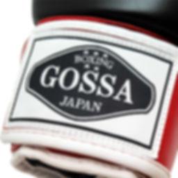 GOSSA ボクシンググローブ ロゴラベルのアップ画像